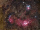 Nebulosity in Sagittarius Photographic Print by  Stocktrek Images
