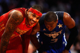 2011 NBA All Star Game, Los Angeles, CA - February 20: Carmelo Anthony and Dwyane Wade Photographic Print by Kevork Djansezian