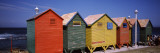 Colorful Huts on the Beach, St. James Beach, Cape Town, Western Cape Province, South Africa Autocollant mural par  Panoramic Images