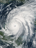 October 21, 2005, Hurricane Wilma Over Mexico Photographic Print by  Stocktrek Images