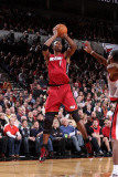 Miami Heat v Portland Trail Blazers, Portland, OR - January 9: Chris Bosh Photographic Print by Sam Forencich