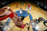Chicago Bulls v Washington Wizards, Washington, DC - February 28: Joakim Noah and Rashard Lewis Photographic Print by Ned Dishman