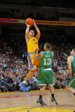 Boston Celtics v Golden State Warriors, Oakland, CA - February 22: Stephen Curry and Delonte West Photographic Print by Rocky Widner