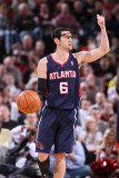 Atlanta Hawks v Portland Trail Blazers, Portland, OR - February 27: Kirk Hinrich Photographic Print by Sam Forencich