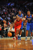 2011 NBA All Star Game, Los Angeles, CA - February 20: Kobe Bryant and Joe Johnson Photographic Print by Garrett Ellwood
