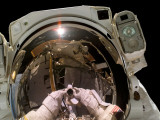 Astronaut STS-115 Mission Specialist, Took This Self-Portrait Photographic Print by  Stocktrek Images