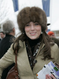 Prince William's girlfriend Kate Middleton seen here arriving at the Cheltenham Festival on Gold Cu Photographic Print