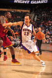 Cleveland Cavaliers  v Phoenix Suns, Phoenix - January 9: Steve Nash and J.J. Hickson Photographic Print by Barry Gossage