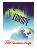 Europe, Fly Canadian Pacific Wall Decal by P. Ewart