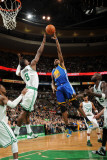 Golden State Warriors v Boston Celtics, Boston, MA - March 4: Dorell Wright and Jeff Green Photographic Print by Brian Babineau