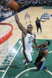 Denver Nuggets v Utah Jazz, Salt Lake City, UT - March 3: Paul Millsap and Nene Photographic Print by Melissa Majchrzak