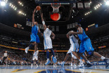 Dallas Mavericks v Denver Nuggets, Denver - February 10: Shawn Marion and Nene Photographic Print by Garrett Ellwood