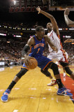 New York Knicks v Miami Heat, Miami, FL - February 27: Amar'e Stoudemire and Chris Bosh Photographic Print by Mike Ehrmann