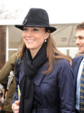Kate Middleton, the girlfriend of Prince William, arrives at Cheltenham Racecourse in Gloucstershir Photographic Print