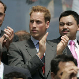 HRH Prince William enjoys the World Cup 2006 in Frankfurt, Germany, June 2006 Photographic Print
