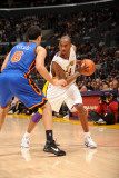New York Knicks v Los Angeles Lakers, Los Angeles, CA - January 9: Kobe Bryant and Landry Fields Photographic Print by Andrew Bernstein