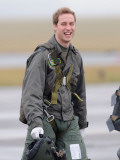 Prince William takes his first solo flight, lesson at RAF Cranwell in Lincolnshire Photographic Print