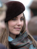 Kate Middleton in the Royal box at Cheltenham racecourse Photographic Print