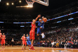 2011 NBA All Star Game, Los Angeles, CA - February 20: Dwyane Wade and Tim Duncan Photographic Print by Noah Graham