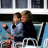 Princess Diana with Prince William at Smiths Lawn, Windsor May 1987 Photographic Print