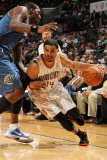 Washington Wizards v Charlotte Bobcats, Charlotte, NC - January 8: D.J. Augustin Photographic Print by Brock Williams-Smith