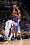 New York Knicks v Orlando Magic, Orlando, FL - March 1: Chauncey Billups, Dwight Howard and J.J. Re Photographic Print by Fernando Medina