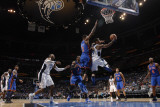 New York Knicks v Orlando Magic, Orlando, FL - March 1: Jameer Nelson and Shawne Williams Photographic Print by Fernando Medina