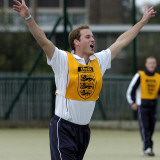 Prince William playing football at the FA Hat-Trick project in Newcastle upon Tyne Fotografisk tryk