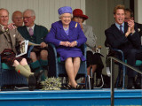 BRAEMAR ROYAL HIGHLAND GATHERING 2005, THE DUKE OF EDINBURGH, THE QUEEN & PRINCE WILLIAM ENJOY THE  Photographic Print