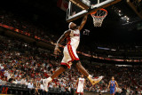 New York Knicks v Miami Heat, Miami - February 27: LeBron James Photographic Print by Issac Baldizon
