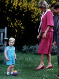 Prince William with parents on his 2nd birthday, June 1984 Photographic Print