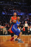 2011 NBA All Star Game, Los Angeles, CA - February 20: Joe Johnson and Carmelo Anthony Photographic Print by Garrett Ellwood
