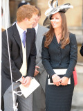prince harry & kate middleton all smiles as they see prince william in his garter robes, June 2008 Photographic Print