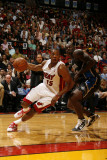 Orlando Magic v Miami Heat, Miami, FL - March 3: Mario Chalmers and Brandon Bass Photographic Print by Issac Baldizon