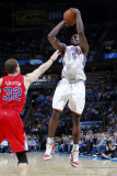 Los Angeles Clippers v Oklahoma City Thunder, Oklahoma City, OK - February 22: Serge Ibaka and Blak Photographic Print by Layne Murdoch