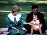 Prince and Princess of Wales with William in New Zealand, April 1983 Photographic Print