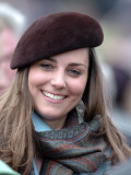 Kate Middleton in the Royal box at Cheltenham racecourse, March 16th 2007 Photographic Print