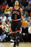 Chicago Bulls v Charlotte Bobcats, Charlotte, NC - January 12: Derrick Rose Photographic Print by Streeter Lecka