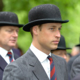 Prince William wearing regimental tie and traditional bowler hat, attends the Combined Cavalry Old  Photographic Print