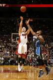 Orlando Magic v Miami Heat, Miami, FL - March 3: Mike Bibby and Jameer Nelson Photographic Print by Issac Baldizon