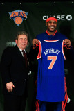 New York Knicks Introduce Carmelo Anthony, New York, NY - February 23: Carmelo Anthony and Jim Dola Photographic Print by Chris Trotman