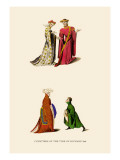 Courtiers of the Time of Richard II Wall Decal by H. Shaw
