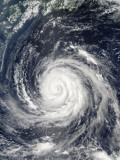 Typhoon Rusa South of Japan Photographic Print by  Stocktrek Images