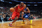 2011 NBA All Star Game, Los Angeles, CA - February 20: Kobe Bryant and Derrick Rose Photographic Print by Noah Graham
