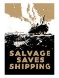 Salvage Saves Shipping Wall Decal by E. Oliver