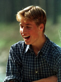 Prince William at River Dee, Balmoral, August 1988 Fotografisk tryk