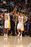 New York Knicks v Los Angeles Lakers, Los Angeles, CA - January 9: Ron Artest and Shannon Brown Photographic Print by Andrew Bernstein