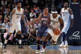 Charlotte Bobcats v Denver Nuggets, Denver, CO - March 02: Ty Lawson and D.J. Augustin Photographic Print by Doug Pensinger