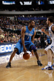 Orlando Magic v Dallas Mavericks, Dallas, TX - January 8: DeShawn Stevenson and Gilbert Arenas Photographic Print by Danny Bollinger