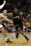 Miami Heat v San Antonio Spurs, San Antonio, TX - March 04: LeBron James and Manu Ginobili Photographic Print by Ronald Martinez